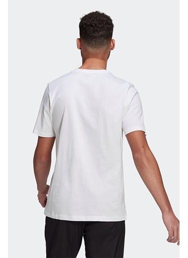 adidas Adidas Erkek Günlük T-Shirt M Lin Sj T Gl0058 Beyaz